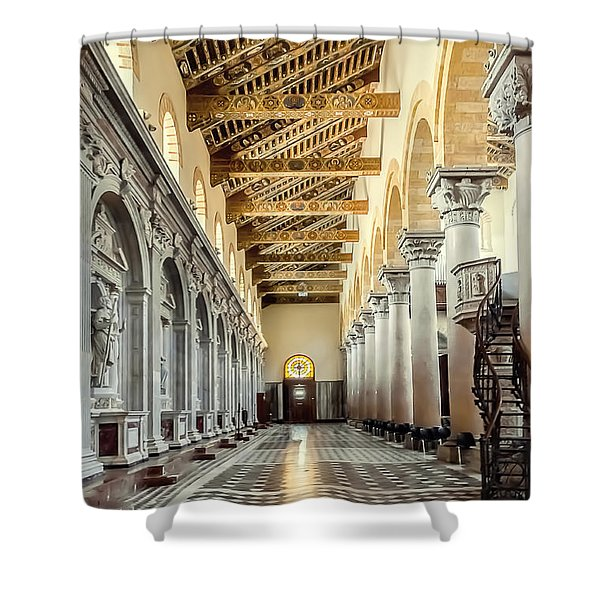 Pulpit Shower Curtain by Maria Coulson
