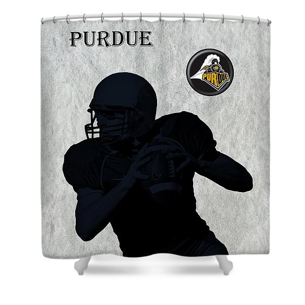 Purdue Football Shower Curtain by David Dehner