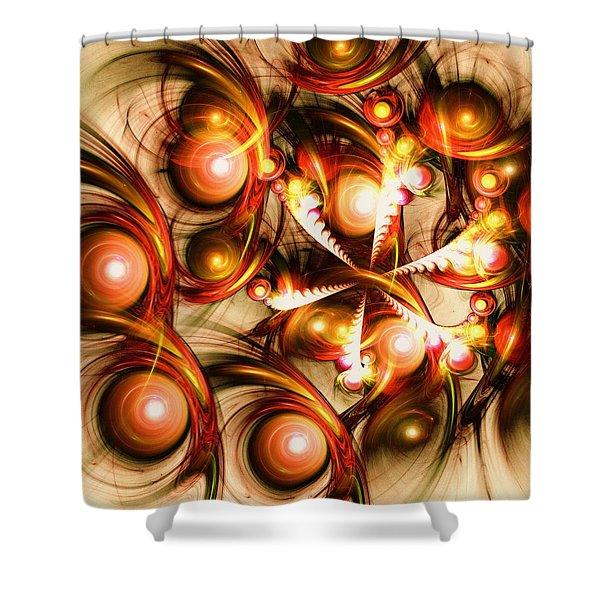 Pure Energy Shower Curtain by Anastasiya Malakhova