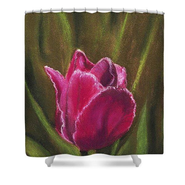 Purple Beauty Shower Curtain by Anastasiya Malakhova