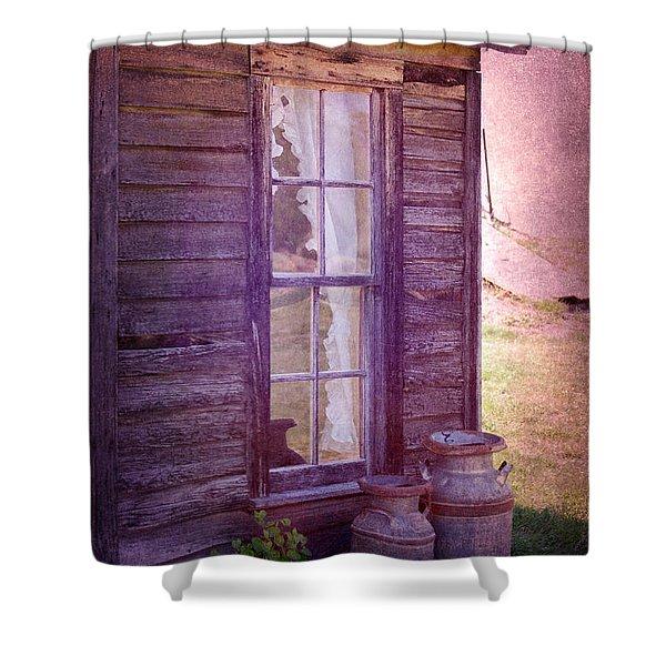 Purple Haze On The Prairie Shower Curtain by Judy Hall-Folde