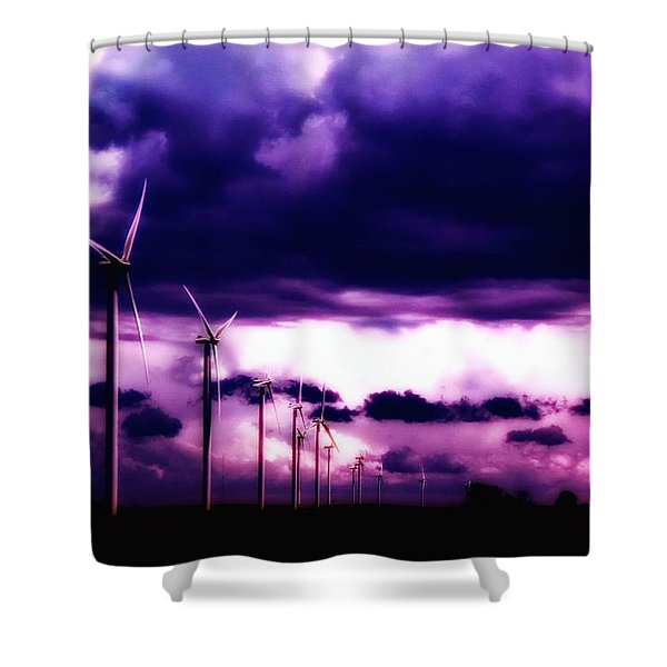 Purple Winds Shower Curtain by Todd and candice Dailey