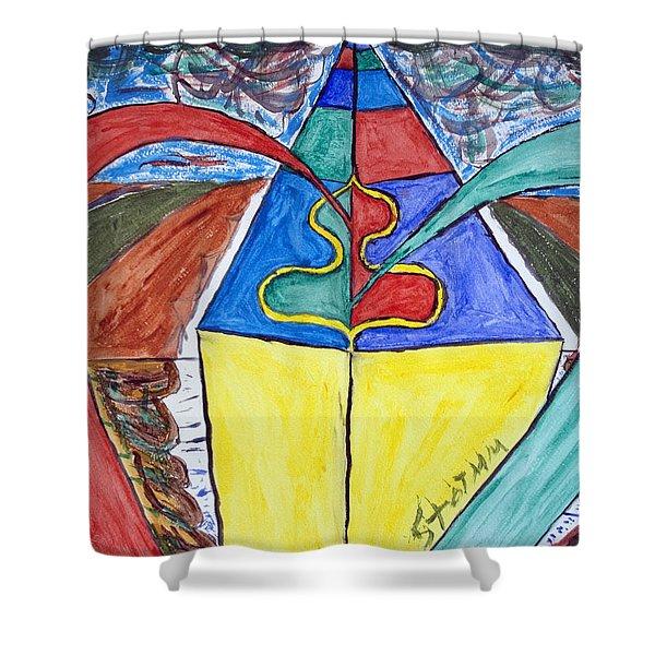 Pyramid Base Shower Curtain by Stormm Bradshaw