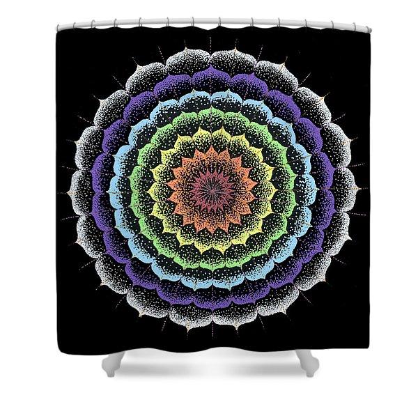 Quan Yin's Healing Shower Curtain by Keiko Katsuta