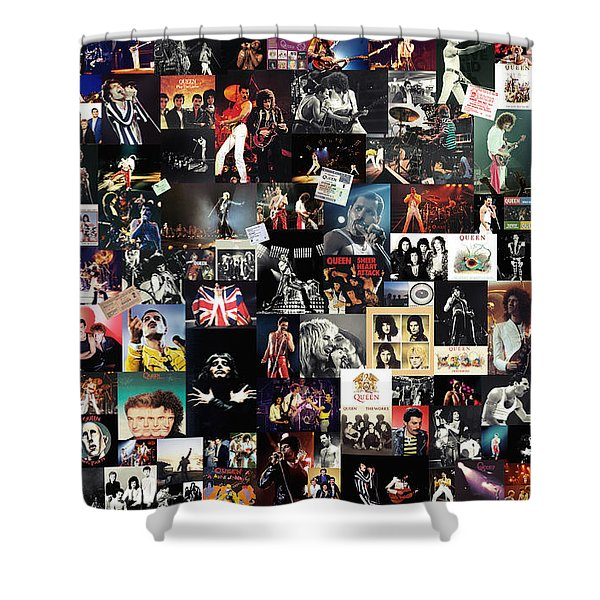 Queen Collage Shower Curtain by Taylan Soyturk