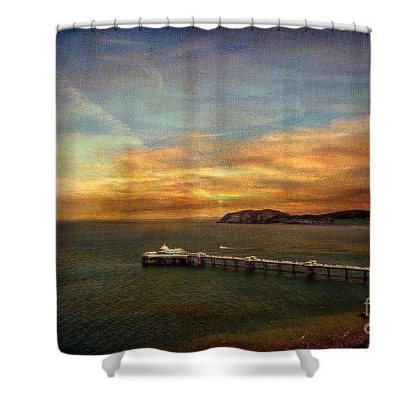 Queen of the Welsh Resorts Shower Curtain by Adrian Evans