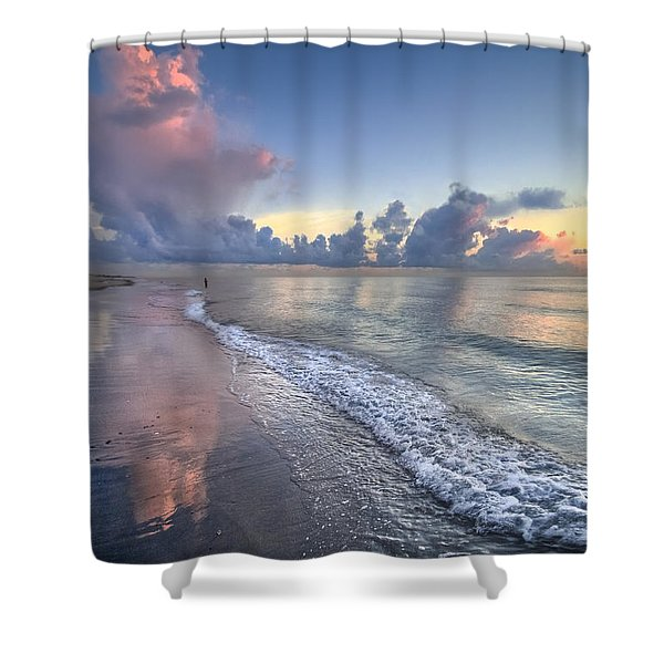 Quiet Morning Shower Curtain by Debra and Dave Vanderlaan
