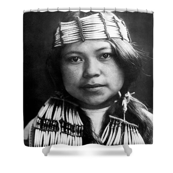Quinault Indian girl circa 1913 Shower Curtain by Aged Pixel