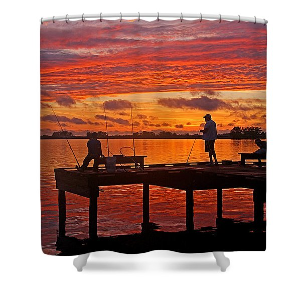 R and R Shower Curtain by HH Photography of Florida