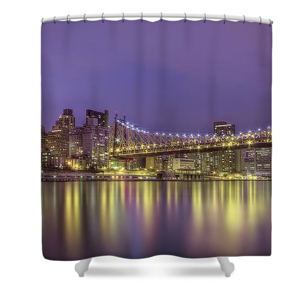 Radiant City Shower Curtain by Evelina Kremsdorf