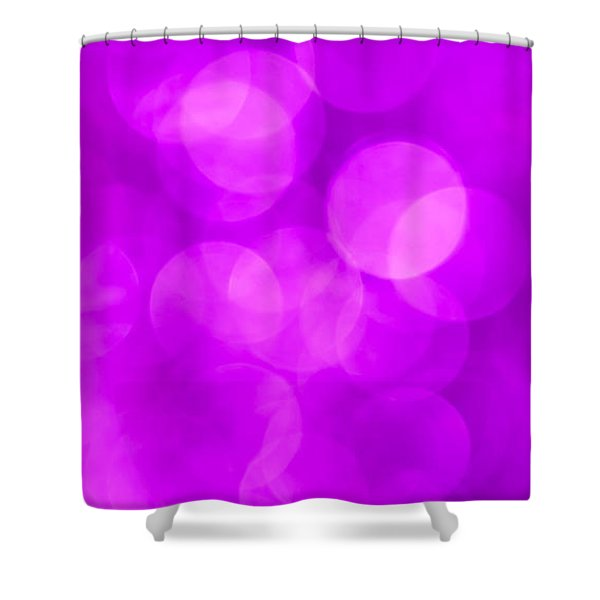 Radiant Orchid Abstract Shower Curtain by Jan Bickerton
