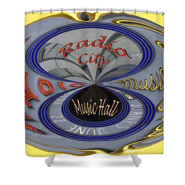 Radio City Shower Curtain by Jean Noren