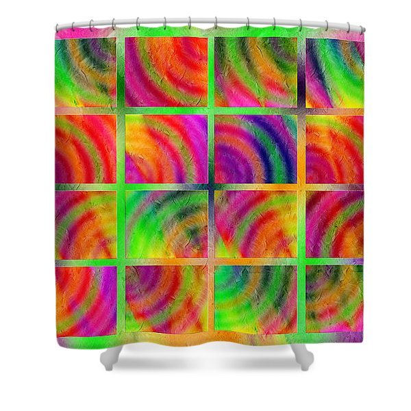 Rainbow Bliss 3 - Over The Rainbow H Shower Curtain by Andee Design