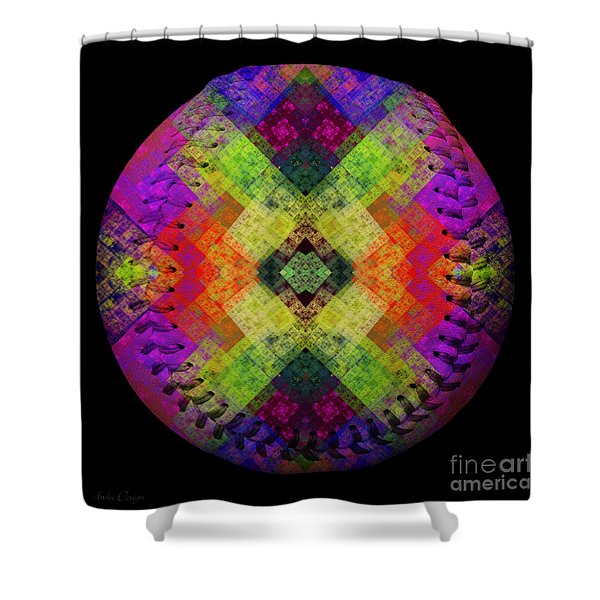 Rainbow Connection Baseball Square Shower Curtain by Andee Design
