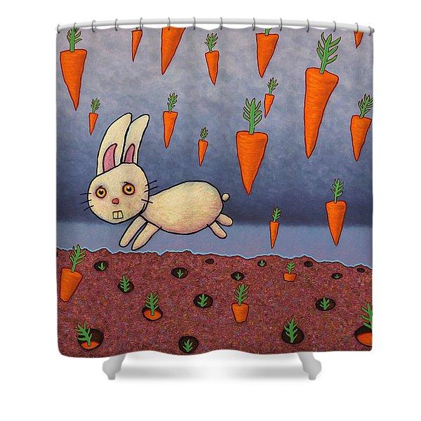 Raining Carrots Shower Curtain by James W Johnson