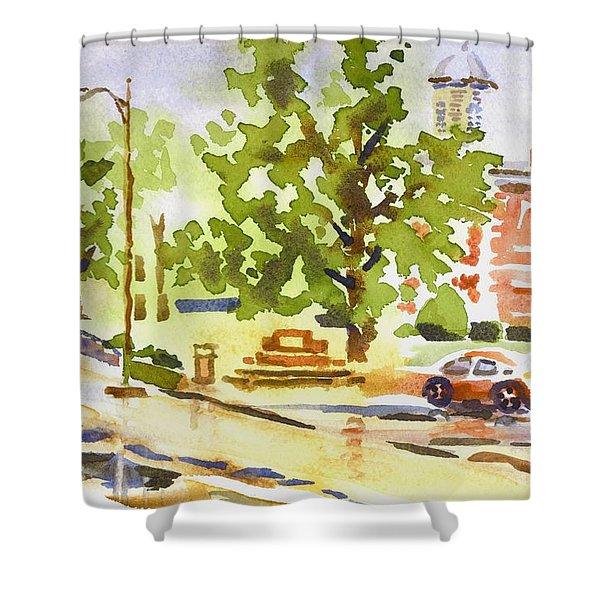 Rainy Days Shower Curtain by Kip DeVore