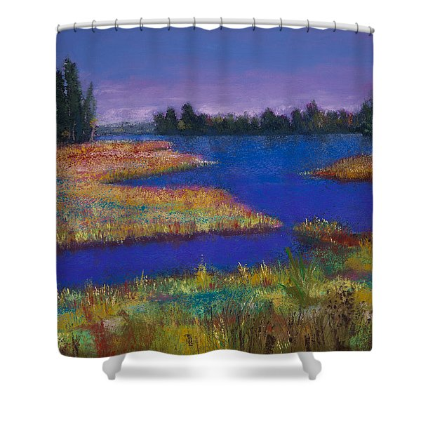 Raquette Lake Shower Curtain by David Patterson