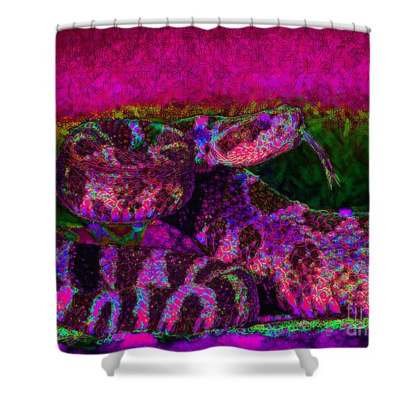 Rattlesnake 20130204m80 Shower Curtain by Wingsdomain Art and Photography
