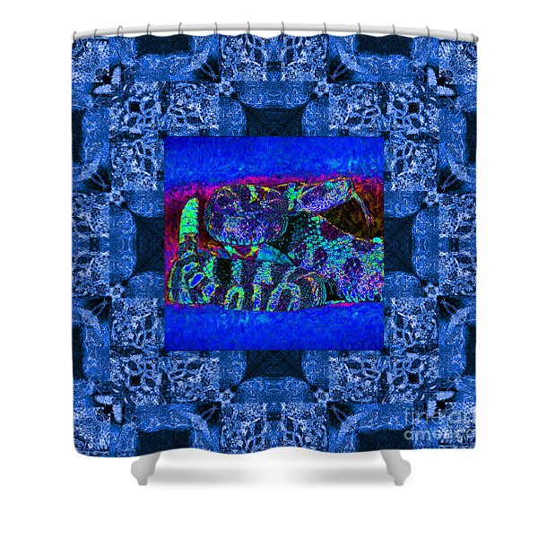 Rattlesnake Abstract Window 20130204m180 Shower Curtain by Wingsdomain Art and Photography