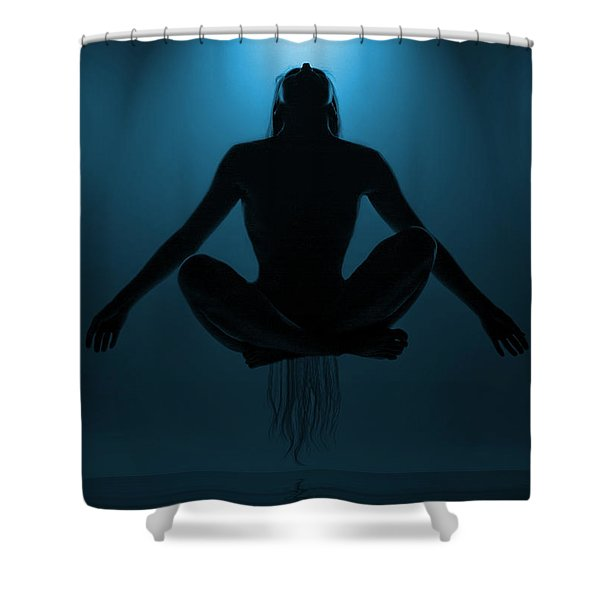 Reaching Nirvana.. Shower Curtain by Nina Stavlund