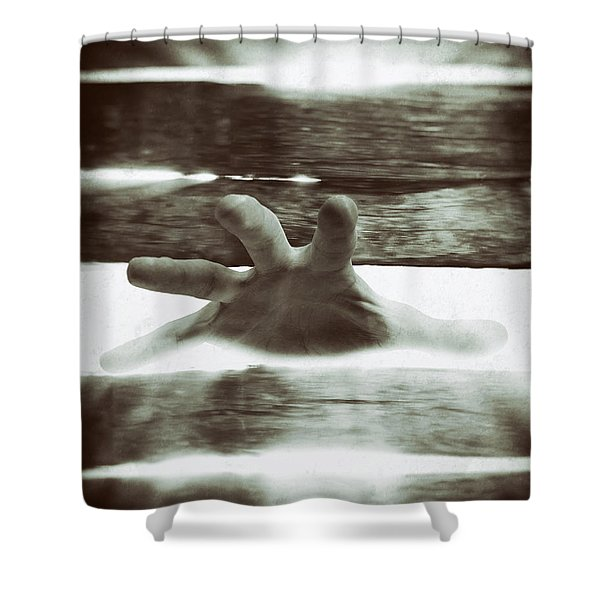Reaching Out Shower Curtain by Wim Lanclus
