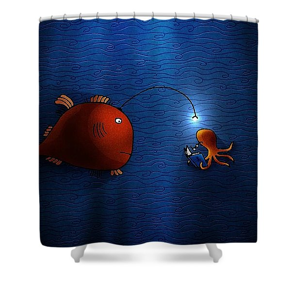 Reading Buddies Shower Curtain by Gianfranco Weiss