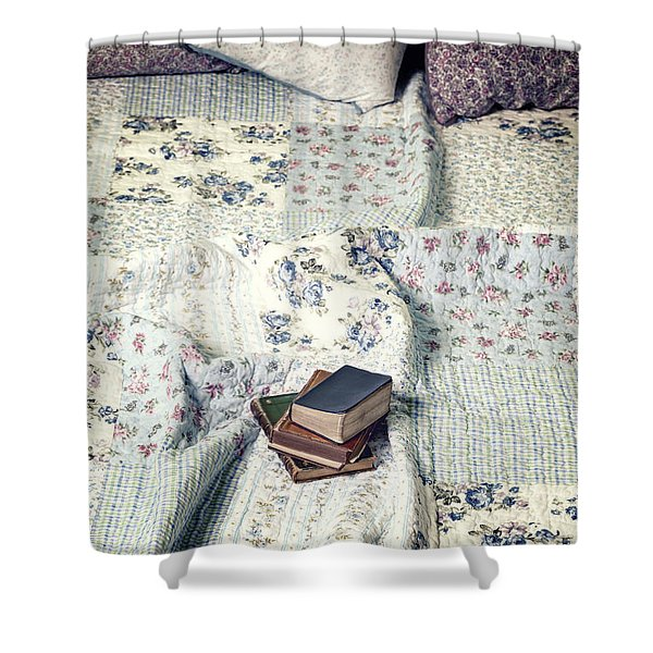 reading time Shower Curtain by Joana Kruse