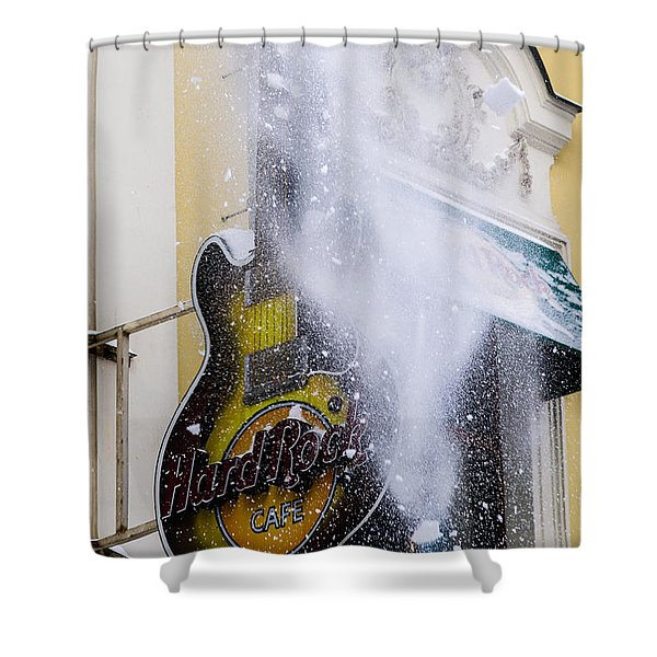 Really Hard Rock - Featured 3 Shower Curtain by Alexander Senin