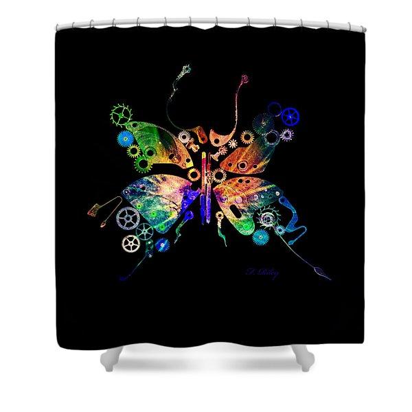 Rebirth Shower Curtain by Fran Riley