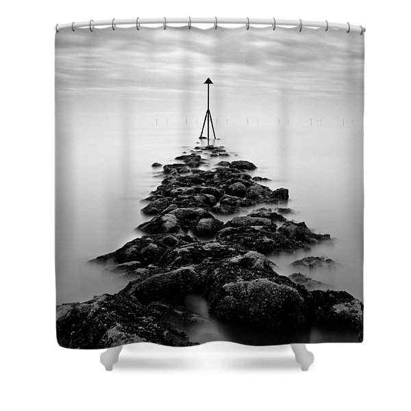 Receding Tide Shower Curtain by Dave Bowman