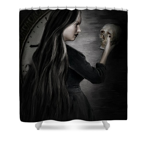 Recognition Of Death Shower Curtain by Lourry Legarde