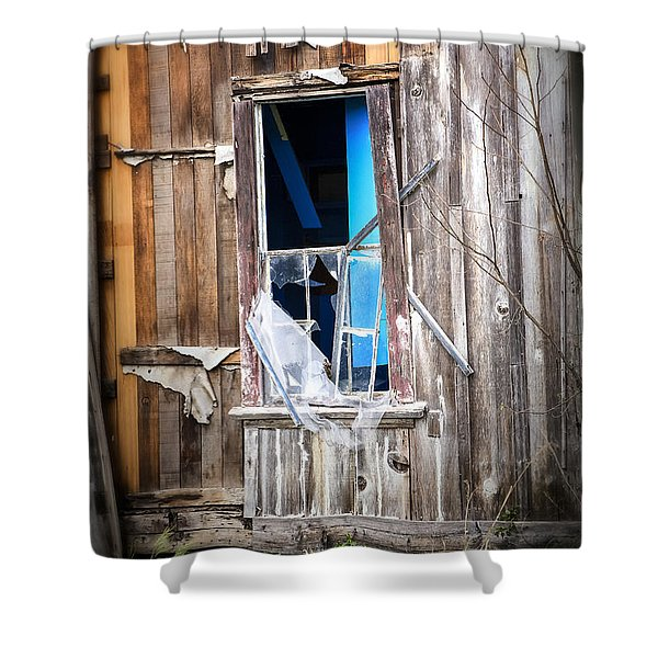 Red and White and Blue Shower Curtain by Caitlyn  Grasso