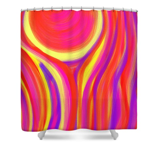 Red Fire Shower Curtain by Daina White