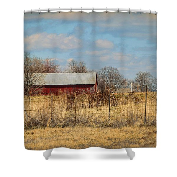 Red Kentucky Relic Shower Curtain by Paulette B Wright