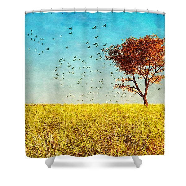 Red Maple Shower Curtain by Bob Orsillo