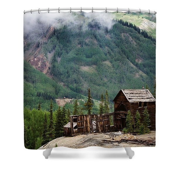 Red Mountain Remnants Shower Curtain by Lana Trussell