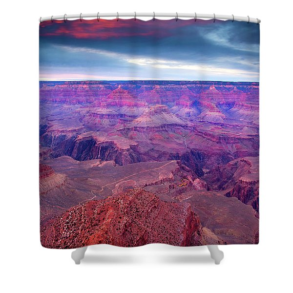 Red Rock Dusk Shower Curtain by Mike  Dawson