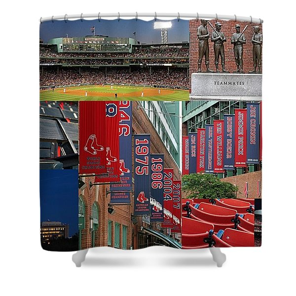Red Sox Nation Shower Curtain by Juergen Roth
