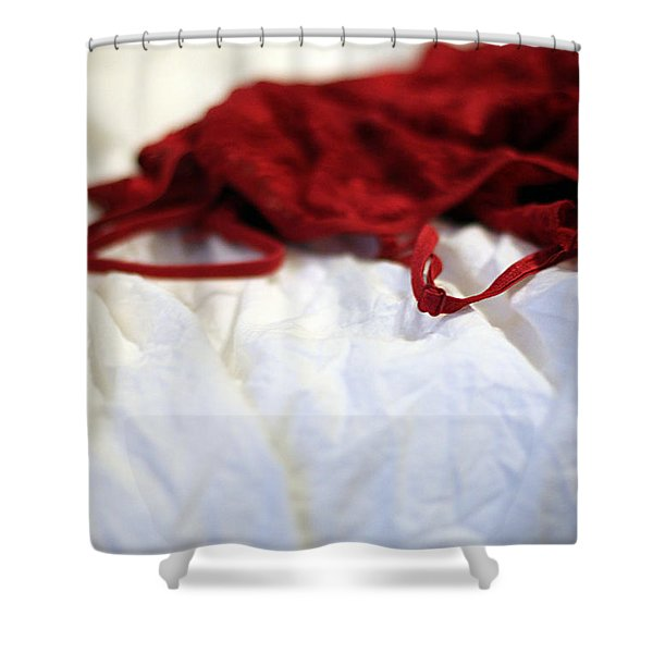 Red Shower Curtain by Trish Mistric