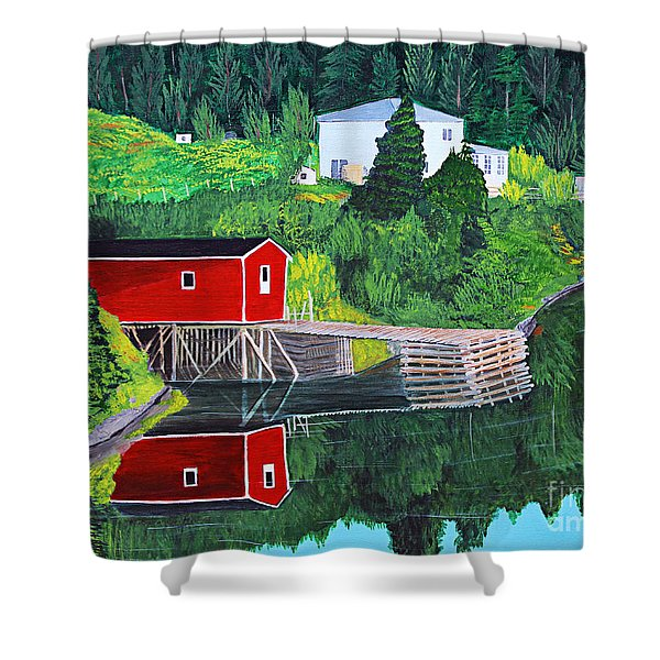 Reflections Shower Curtain by Barbara Griffin