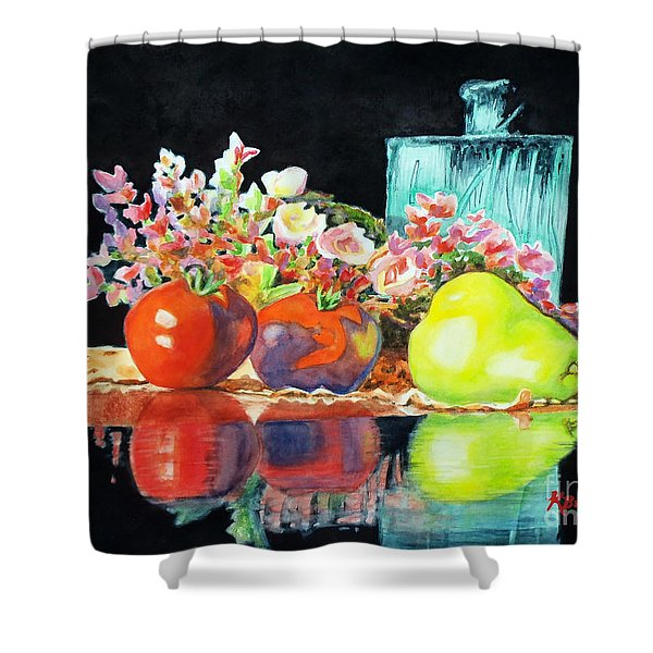 Reflections In Color Shower Curtain by Kathy Braud