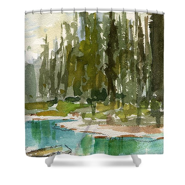 Reflections Shower Curtain by Mohamed Hirji