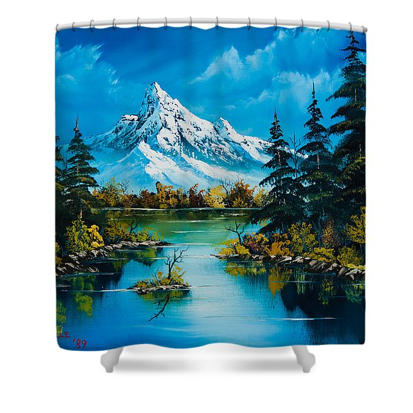 Reflections Of Fall Shower Curtain by C Steele