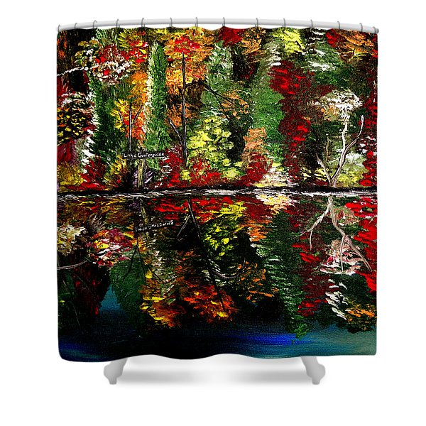 Reflections Of Fall Shower Curtain by Mark Moore