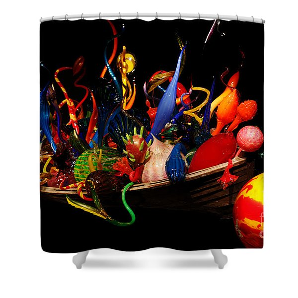 Reflections of Glass 3 Shower Curtain by Cheryl Young