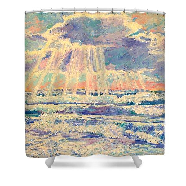 Rehoboth Light Shower Curtain by Kendall Kessler