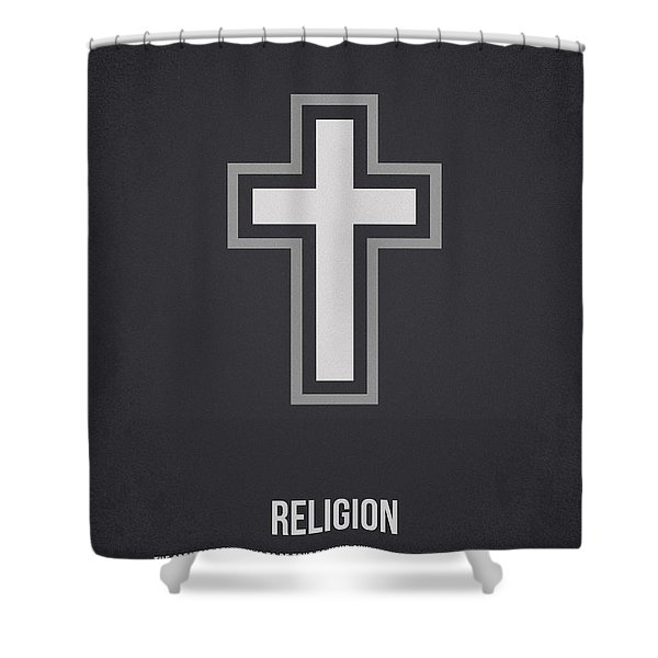 Religion Shower Curtain by Aged Pixel