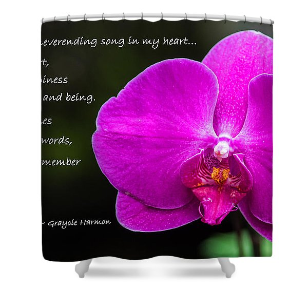 Remember The Tune - Mother's Day Shower Curtain by Jordan Blackstone