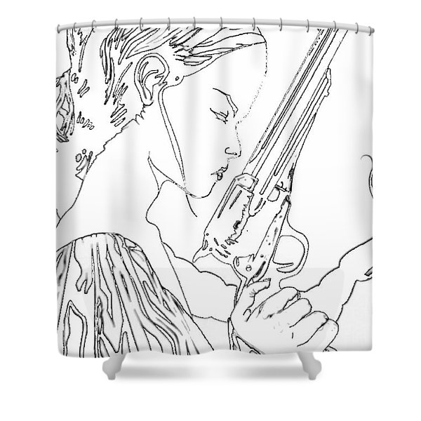 Remembering The Face Of Our Father Iced Edtion Shower Curtain by Justin Moore