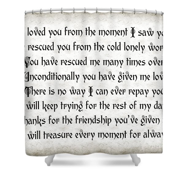 Rescue Love Shower Curtain by Andee Design